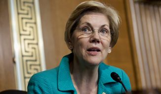 """Sen. Elizabeth Warren reportedly is not now interested in being Hillary Clinton's running mate, but """"won't rule out"""" that possibility. (Associated Press)"""
