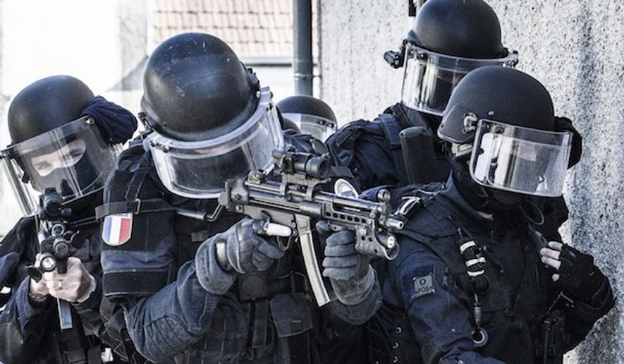 Armed robbers tried to hold up a McDonald's in France at the same time an elite group of special forces personnel were eating hamburgers. (Facebook, Groupe d'Intervention Gendarmerie Nationale)