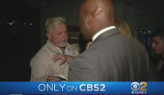 California State Sen. Isadore Hall was served with a subpoena Tuesday night during his own primary victory party. (CBS2)