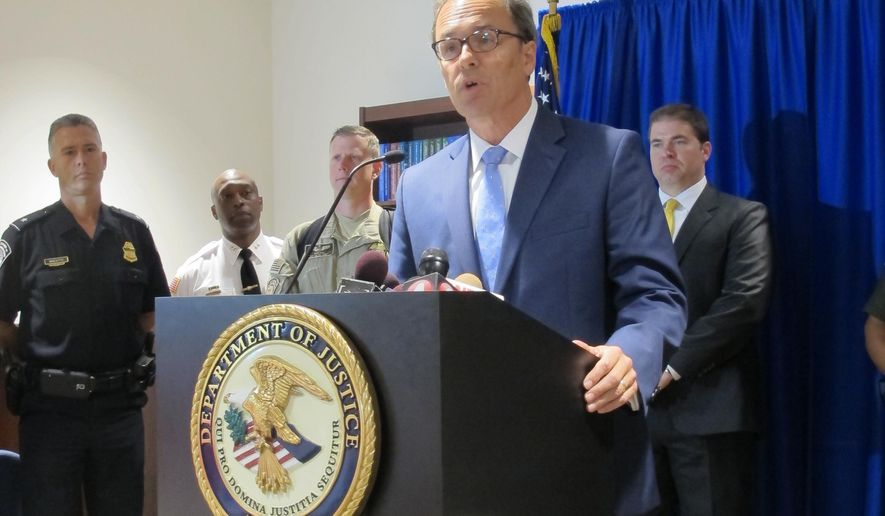 FILE - In this July 29, 2015 file photo, U.S. Attorney William Hochul speaks about the arrest of Arafat Nagi during a news conference in Buffalo, N.Y. Authorities say Nagi was planning his third trip to Turkey, with plans to continue to Syria to join the fighters, at the time of his arrest last summer. Nagi's lawyer has filed a motion to dismiss an indictment charging the Lackawanna man with attempting to provide material support to a foreign terrorist organization. A federal court hearing is scheduled for Thursday, June 9, 2016, in Buffalo. (AP Photo/Carolyn Thompson, File)