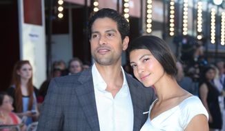 "FILE - In this June 30, 2015, file photo, Adam Rodriguez and Grace Gail pose for photographers upon arrival at the Magic Mike XXL European premiere in London. Rodriguez and CBS announced on June 8, 2016, that the actor would be joining the cast of ""Criminal Minds."" (Photo by Joel Ryan/Invision/AP, File)"
