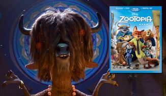 "Yax the relaxed yak is voiced by Tommy Chong in ""Zootopia,"" now available on Blu-ray from Walt Disney Studios Home Entertainment."