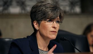 Sen. Joni Ernst, Iowa Republican (Associated Press) **FILE**