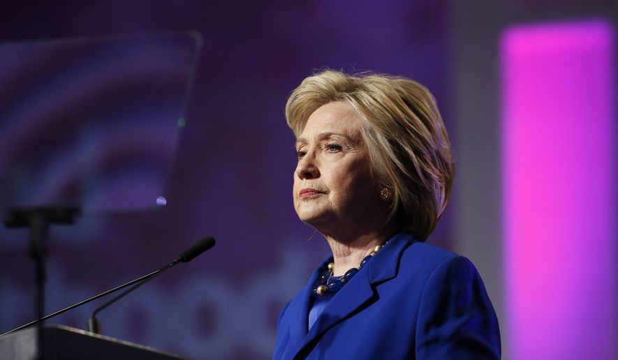 Democratic presidential candidate Hillary Clinton speaks during a Planned Parenthood Action Fund membership event, Friday, June 10, 2016 in Washington. (AP Photo/Alex Brandon)