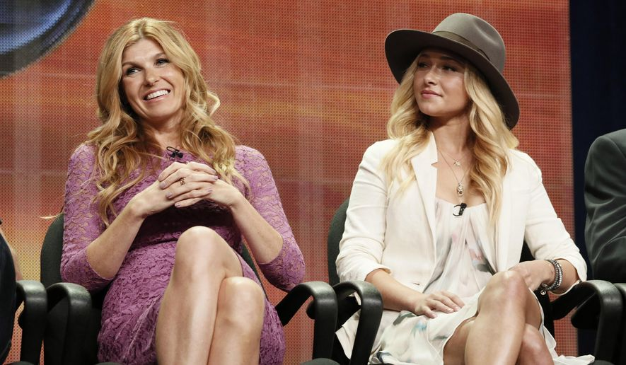"""FILE - In this July 27, 2012 file photo, Connie Britton and Hayden Panettiere attend the """"Nashville"""" panel at the Disney ABC TCA Day 2 at the Beverly Hilton Hotel, in Beverly Hills, Calif. The television series """"Nashville"""" is getting a second life. The country-oriented CMT network said Friday, June 10, 2016, it will make a fifth season of the music-oriented drama, which had been canceled less than a month ago by ABC. (Photo by Todd Williamson/Invision/AP, File)"""