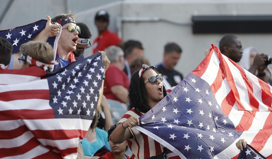 United States' fans cheer before a Copa America Group A soccer match between United States and Paraguay at Lincoln Financial Field, Saturday, June 11, 2016, in Philadelphia. (AP Photo/Matt Slocum)