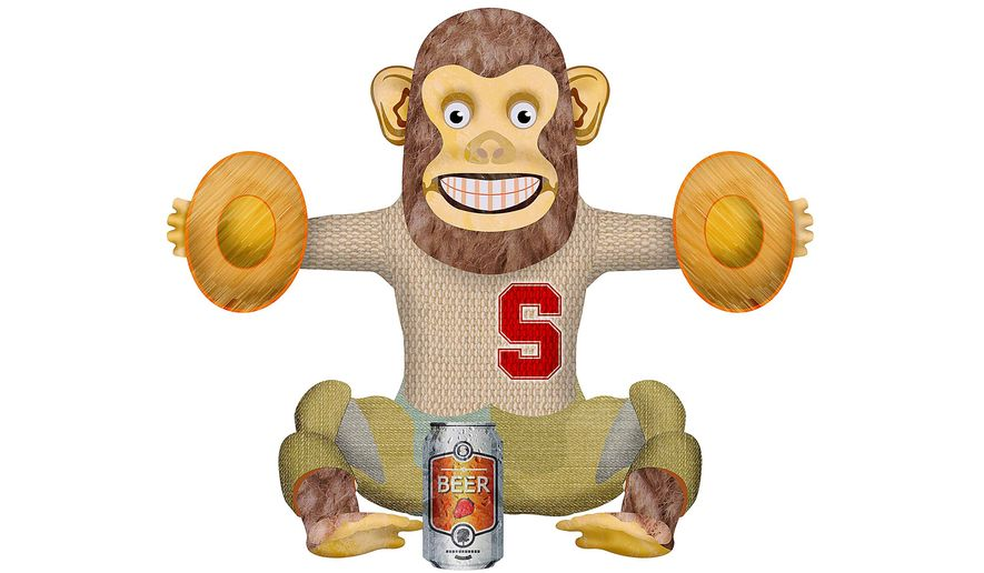 College Monkey Illustration by Greg Groesch/The Washington Times