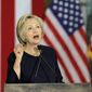 Hillary Clinton pledged Monday to equip police with equipment to carry out life-threatening missions. (Associated Press)
