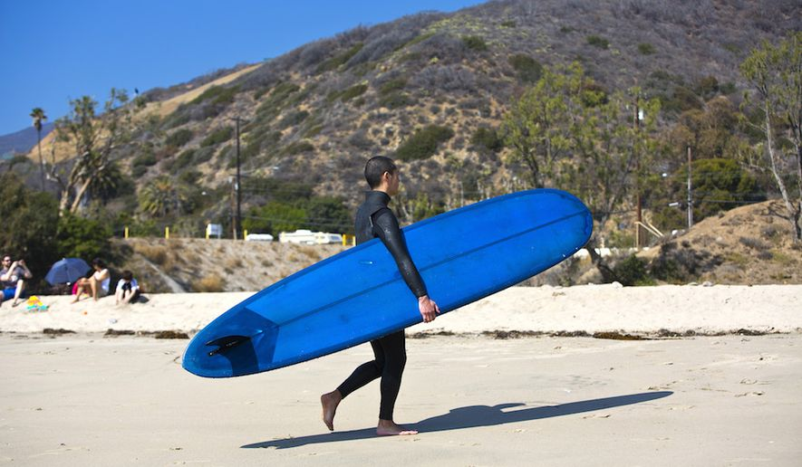 Surfer in Malibu