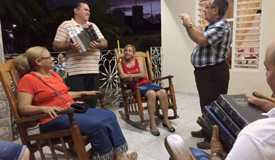 The Rev. Juan Carlos, a key instrument for Bible distribution in Cuba. (Image courtesy of the Billy Graham Evangelistic Association)