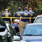 FBI agents return to the scene of the mass shooting at the Pulse nightclub in Orlando, Fla., Tuesday, June 14, 2016. (Joe Burbank/Orlando Sentinel via AP) **FILE**