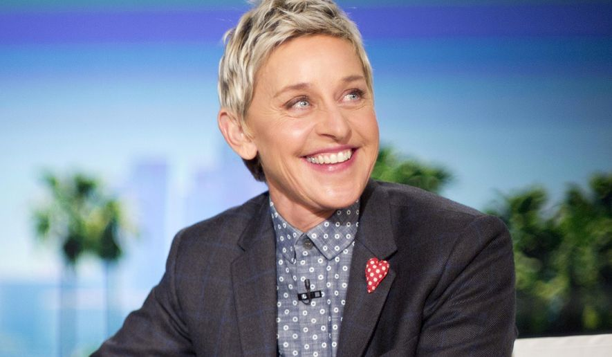 "FILE - In this Feb. 11, 2016 file photo, host Ellen DeGeneres appears during a taping of ""The Ellen DeGeneres Show,"" in Burbank, Calif. DeGeneres voices the character of Dory in the Disney Pixar animated feature, ""Finding Dory."" (AP Photo/Pablo Martinez Monsivais, File)"