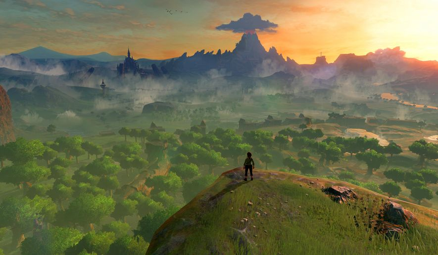 """This image released by Nintendo shows a scene from, """"The Legend of Zelda: Breath of the Wild."""" (Nintendo via AP)"""