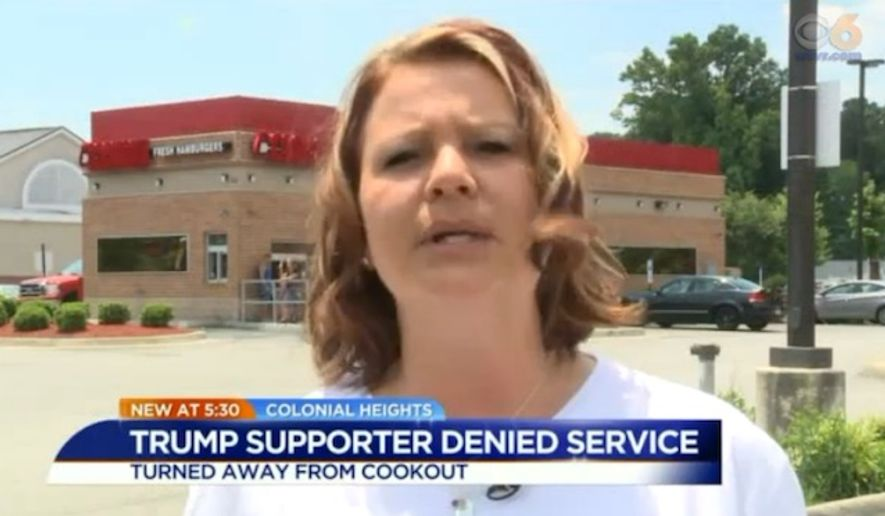 The Cook Out restaurant chain has apologized to a family of Donald Trump supporters after they were denied service by angry workers at a Virginia location. (WTVR)