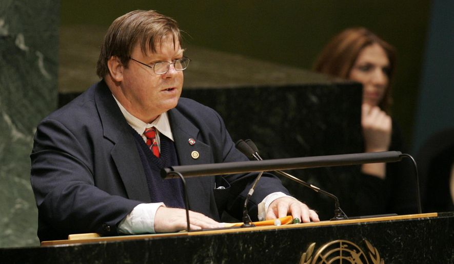 In this Dec. 8, 2008 photo provided by the United Nations, Robert Martin, of Inclusion International, speaks during the special event commemorating the entry into force of the Convention on the Rights of Persons with Disability and its Optional Protocol at U.N. headquarters. New Zealander Martin, who has a learning disability resulting from a brain injury at birth, was elected Tuesday, June 14, 2016, to the U.N.'s persons with disabilities committee. Martin became the first person with an intellectual disability to serve on it. (Paulo Filgueiras/The United Nations via AP)