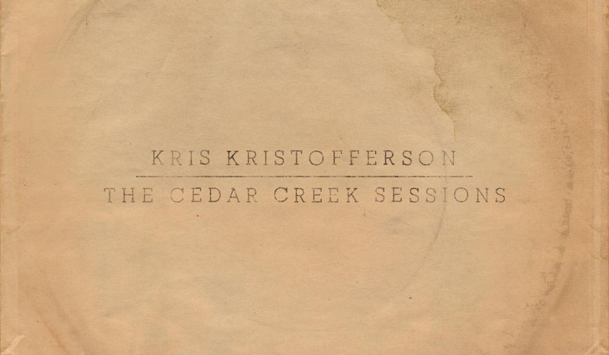 """This CD cover image released by KK Records shows, """"The Cedar Creek Sessions,"""" a release by Kris Kristofferson. (KK Records via AP)"""