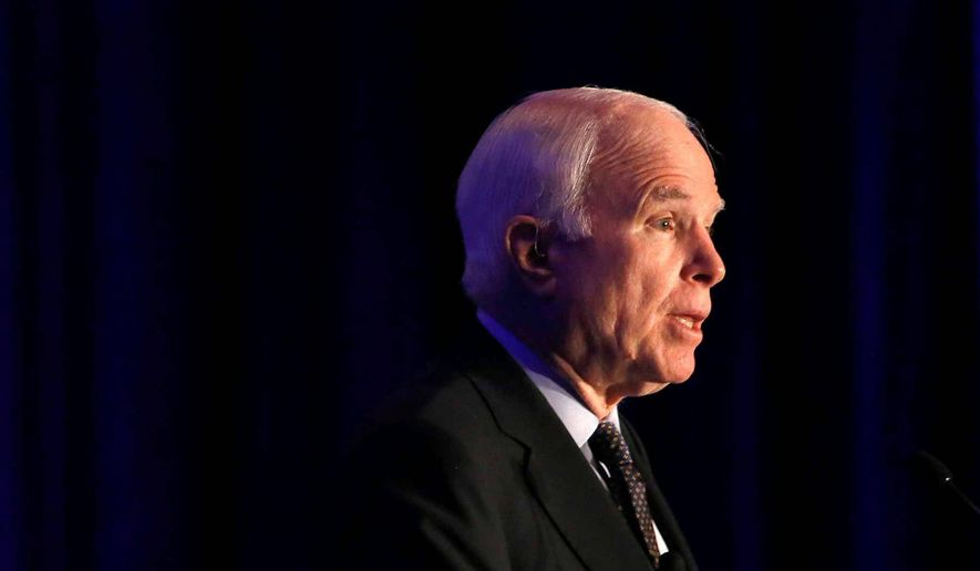 Sen. John McCain. (Associated Press) ** FILE **