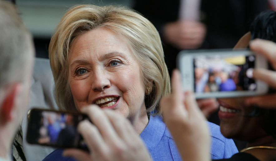 A party insider said Thursday said likely Democratic nominee Hillary Clinton has been given more room to maneuver given the struggles of presumptive GOP nominee Donald Trump, leaving her less beholden to the liberal voters who backed Sen. Bernard Sanders. (Associated Press)