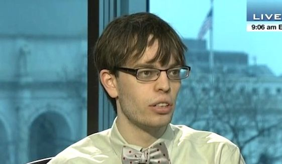 "Vox writer Dylan Matthews called for President Obama to ""unilaterally"" ban Americans from owning gun on June 16, 2016. (C-Span screenshot)"