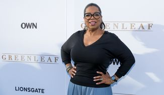 "In this Wednesday, June 15, 2016 file photo, Oprah Winfrey arrives at the season one premiere of ""Greenleaf"" at The Lot in West Hollywood, Calif. Winfrey reacts to the Orlando mass shooting: ""Are we a country that really believes that assault weapons should be made available to anybody? Are assault weapons necessary? I just say, 'Enough.'""  (Photo by Willy Sanjuan/Invision/AP, File)"