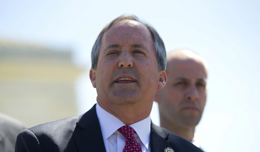 Texas Attorney General Ken Paxton. (AP Photo/Pablo Martinez Monsivais, File)