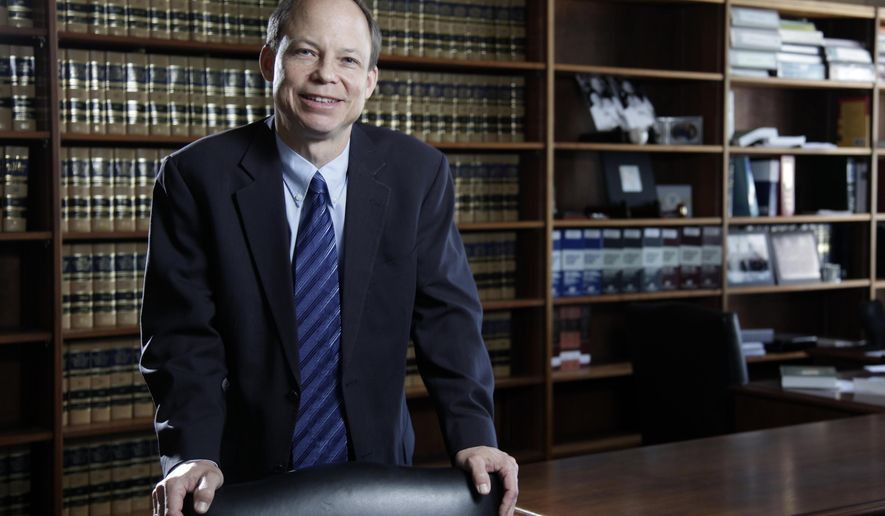 FILE - This June 27, 2011 file photo shows Santa Clara County Superior Court Judge Aaron Persky, who drew criticism for sentencing former Stanford University swimmer Brock Turner to only six months in jail for sexually assaulting an unconscious woman. An Associated Press review of his rulings shows that Persky has adhered to the same practice of following the sentencing recommendation of the Santa Clara County Probation Department in every trial where the probation office made a recommendation since he began presiding over a Palo Alto criminal court in 2015. (Jason Doiy/The Recorder via AP, File)