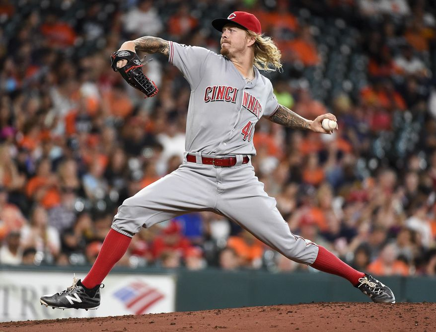 Cincinnati Reds starting pitcher John Lamb delivers during the second inning of a baseball game against the Houston Astros, Friday, June 17, 2016, in Houston. (AP Photo/Eric Christian Smith)