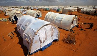 """""""Dadaab is not just a camp, but it's also a commercial hub, it's a city in its own,"""" said Bashir Abdikarir, a Somali businessman. If it were a city, Dadaab would be Kenya's third largest after Nairobi and Mombasa. (Associated Press)"""