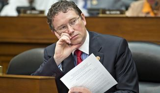 """""""Congress should not abandon the Constitution in the face of terrorism,"""" said Rep. Thomas Massie, the Kentucky Republican who has forced the fight each of the last three years. """"Unfortunately, proponents of warrantless surveillance mischaracterized our legislation and its bearing on the investigation in Orlando."""" (Associated Press)"""