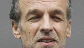 This June 18, 2016, booking photo provided by the Pine County Jail in Minnesota shows Victor Barnard. On Monday, June 20, 2016, a judge set bail for Barnard, a religious sect leader who is charged with sexually abusing girls at a secluded compound in rural Minnesota. (Pine County Jail via AP)