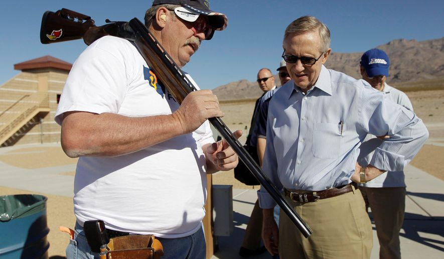 Senate majority leader Harry Reid accepted the NRA's endorsement in his 2004 race, and sought it in 2010. He didn't get the endorsement but their action fund did contribute $4,950 to his campaign. (Associated Press)
