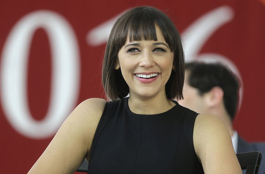 Rashida Jones is an American actress, comic book author, film producer, singer, and screenwriter. She is known for playing Ann Perkins on NBC's comedy Parks and Recreation, Louisa Fenn on Fox's Boston Public, and Karen Filippelli on The Office. She has had film roles in I Love You, Man (2009), Our Idiot Brother (2011), The Social Network (2010), The Muppets(2011), and Celeste and Jesse Forever (2012), for which she wrote the screenplay. She now plays the lead role in the TBS comedy series, Angie Tribeca. Jones was born in Los Angeles, California, the daughter of actress Peggy Lipton and musician and record producer Quincy Jones. (AP Photo/Steven Senne)