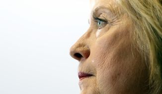 Democratic presidential candidate Hillary Clinton speaks about the economy at Fort Hayes Vocational School Tuesday, June 21, 2016, in Columbus, Ohio. (AP Photo/Jay LaPrete)