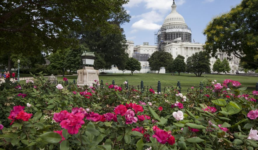 This June 16, 2016 photo shows an exterior view of the Capitol Building in Washington. (AP Photo/J. Scott Applewhite)