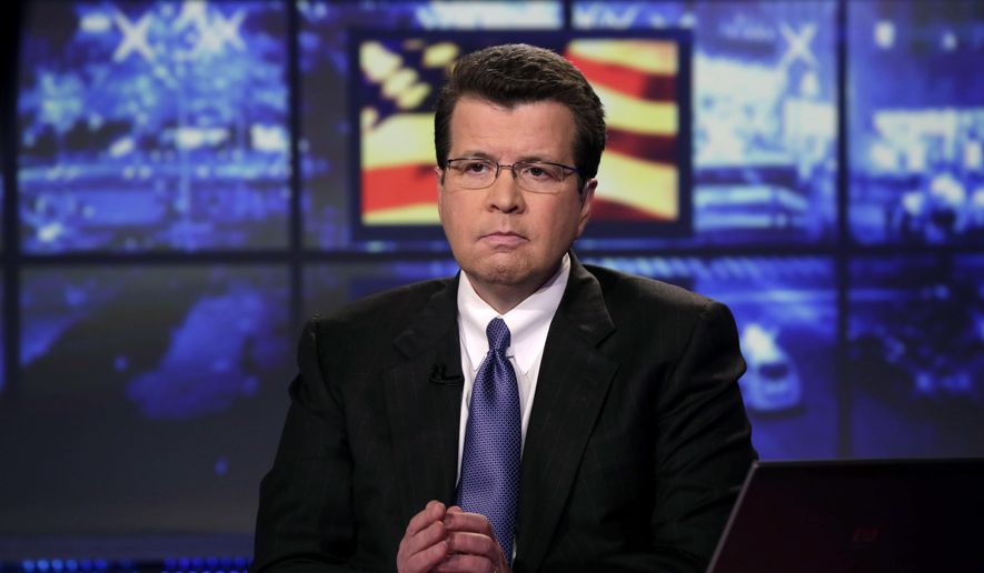 In this Tuesday, March 19, 2013, file photo, Neil Cavuto, of the Fox Business Network, appears during a segment his program in New York. Cavuto is an anchor for Fox News Channel and Fox Business Network. (AP Photo/Richard Drew) ** FILE **