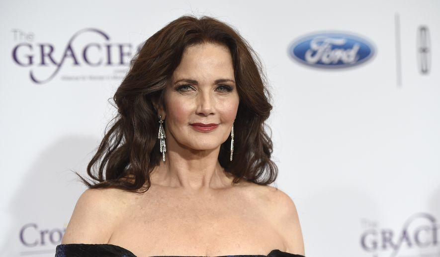 Lynda Carter arrives at the 41st annual Gracie Awards Gala at the Beverly Wilshire Hotel in Beverly Hills, Calif., May 24, 2016. (Associated Press) ** FILE **