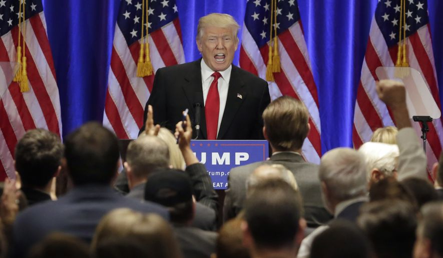 "Republican presidential candidate Donald Trump launched a searing assault on Hillary Clinton, calling her a ""world-class liar,"" accusing her of destabilizing the Middle East and charging that she and her husband, former President Bill Clinton, have profited off the misery of Americans. (Associated Press)"