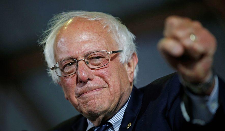 Democratic presidential candidate Sen. Bernie Sanders, I-Vt., speaks at a rally Tuesday, June 7, 2016, in Santa Monica, Calif. (AP Photo/John Locher) ** FILE **