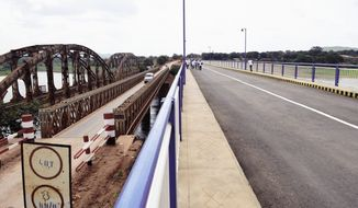 The new and old Lualaba bridges next to each other. (Photo: Ministry of Infrastructure and Public Works (ITP) DRC)