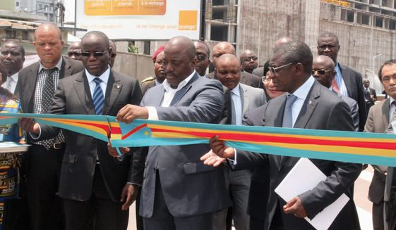 DRC President Joseph Kabila inaugurates the Avenue des Poids Lours, one of several infrastructure upgrades underway. (Photo: Ministry of Infrastructure and Public Works, DRC)