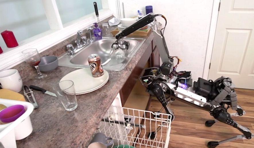 Boston Dynamics has created a new robot that can accomplish many household chores. (YouTube, Boston Dynamics)