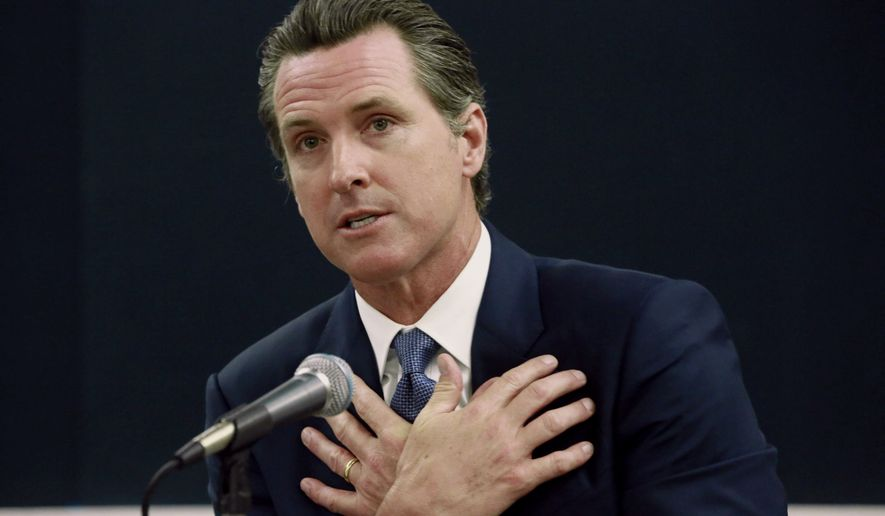The California Secretary of State's office announced Thursday that the Safety for All initiative, championed by Democratic Lt. Gov. Gavin Newsom, had gathered the petition signatures necessary for a slot on the Nov. 8 ballot. (Associated Press)