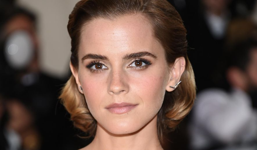 """Emma Watson arrives at The Metropolitan Museum of Art Costume Institute Benefit Gala in New York in this May 2, 2016 photo. Miss Watson's latest feature film, """"The Colony,"""" brought in a mere $61 at the British box office over the weekend of July 2, The Guardian reported. (Photo by Evan Agostini/Invision/AP, File) **FILE**"""