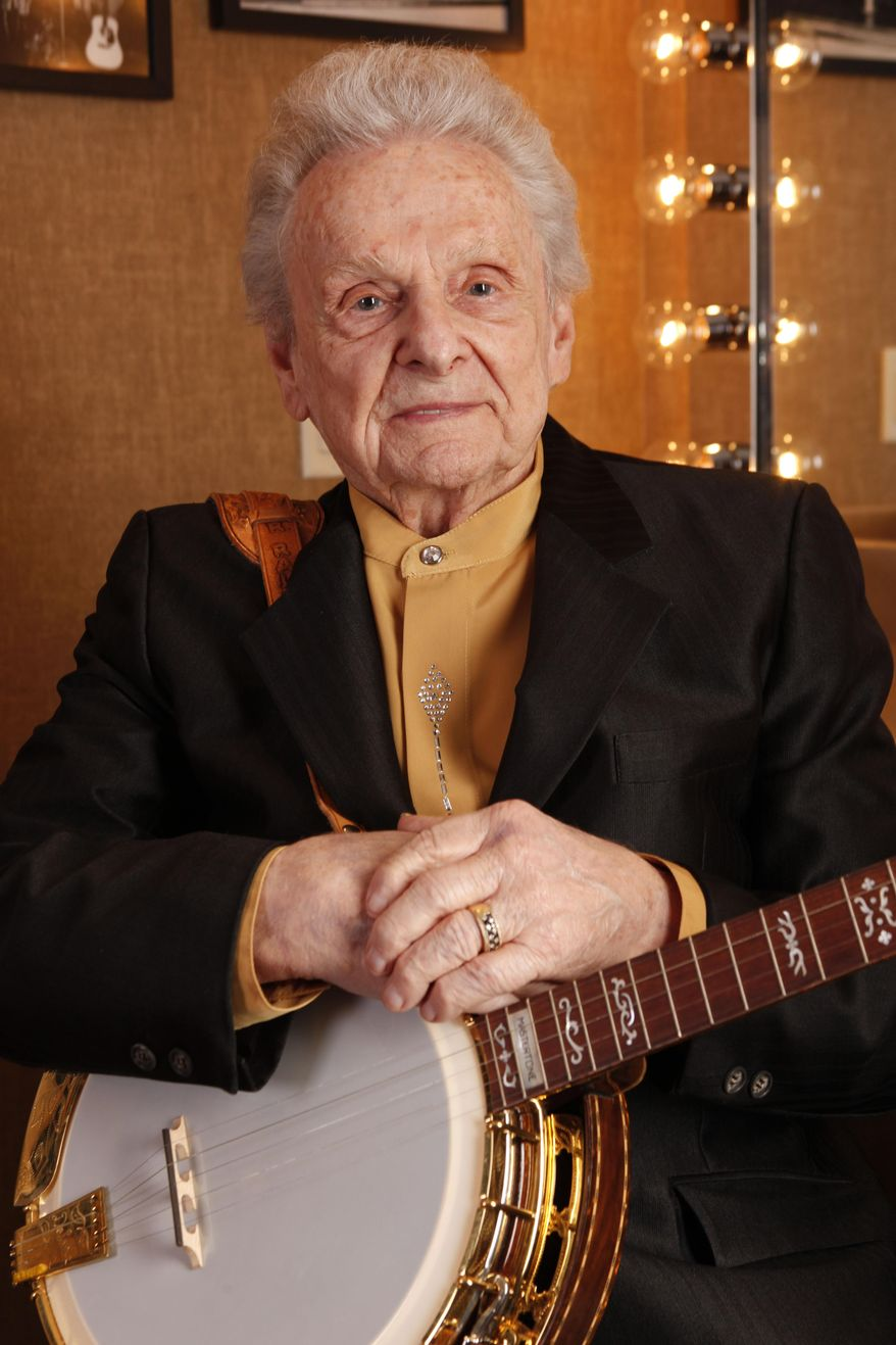 File-This This March 11, 2011, file photo shows Ralph Stanley backstage at the Grand Ole Opry House in Nashville, Tenn. Appalachian music patriarch Stanley, who helped expand and popularize the bluegrass sound, has died. He was 89. His publicist, Kirt Webster, says Stanley died Thursday, June 23, 2016. (AP Photo/Ed Rode, File)