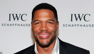 "Michael Strahan attends IWC's ""For the Love of Cinema"" event during the 2016 Tribeca Film Festival in New York, in this April 14, 2016, file photo. Strahan said he doesn't miss doing ""Live with Kelly and Michael."" In his first interview since his awkward exit from the show, Strahan told Chelsea Handler on Wednesday, June 22, 2016, that he's been enjoying the break from the talk show he hosted with Kelly Ripa. (Photo by Donald Traill/Invision/AP, File)"