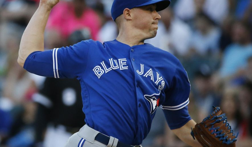 Toronto Blue Jays starter Aaron Sanchez throws against the Chicago White Sox during the first inning of a baseball game in Chicago, Friday, June 24, 2016. (AP Photo/Nam Y. Huh)