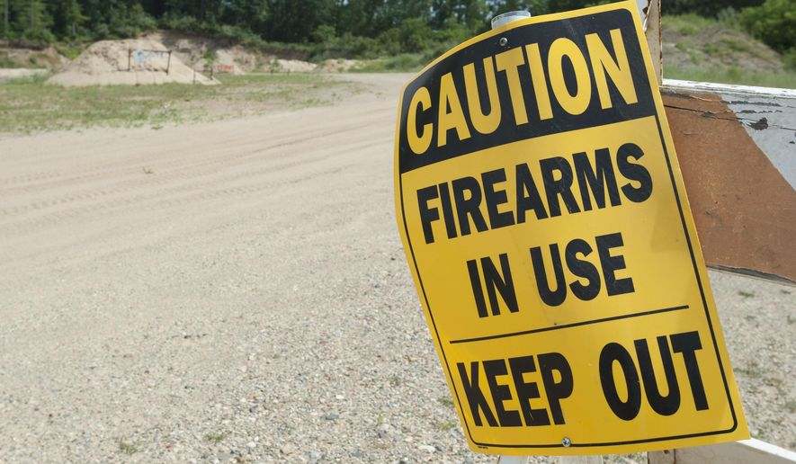 The Kickin Brass gun range on Portage Road in Leoni Township, Mich. as seen on Wednesday, June 22, 2016. The gun range is in a battle with neighbors and the township.  (J. Scott Park/Jackson Citizen Patriot via AP) LOCAL STATIONS OUT; LOCAL INTERNET OUT; MANDATORY CREDIT