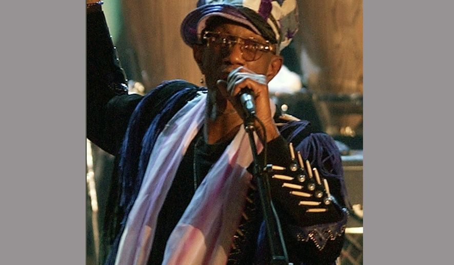 FILE - In this March 18, 2002, file photo, Bernie Worrell speaks at the Rock and Roll Hall of Fame in New York. Worrell, whose keyboard sounds and textures helped define the Parliament-Funkadelic musical empire, died of lung cancer at his home in Everson, Wash., on Friday, June 24, 2016. He was 72. (AP Photo/Kathy Willens, File)