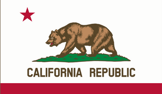 California flag. Image via Wikimedia Commons. Accessed June 25, 2016.