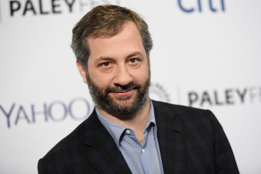 """Producer-director Judd Apatow arrives at the 32nd Annual Paleyfest : """"Girls,"""" in Los Angeles, March 8, 2015. (Photo by Richard Shotwell/Invision/AP, File) ** FILE **"""
